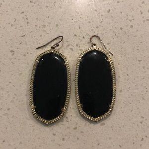 Kendra Scott Danielle earrings: gold black onyx